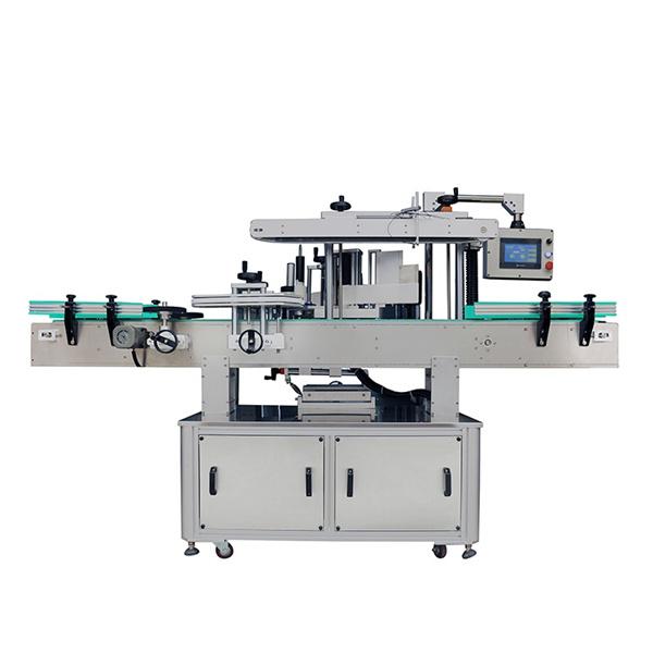 Automatische Produktetikettiermaschine für Waschmittel für runde und flache Shampoo-Flaschen
