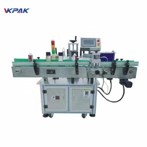 Automatische Etikettenapplikatormaschine mit selbstklebendem Plattenspieler-Aufkleber