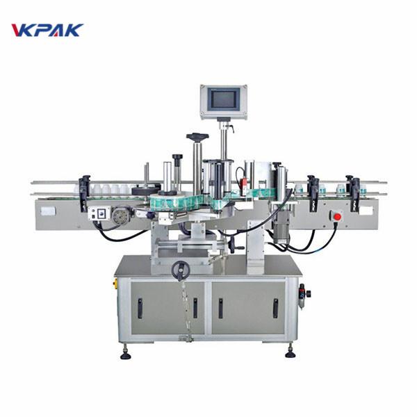Automatische selbstklebende Etikettenapplikatormaschine für den mittleren runden Cup-Stick