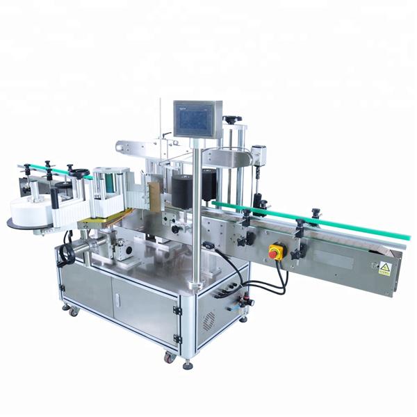 Kundenspezifische automatische Etikettenapplikatormaschine für runde Waschmittelflasche