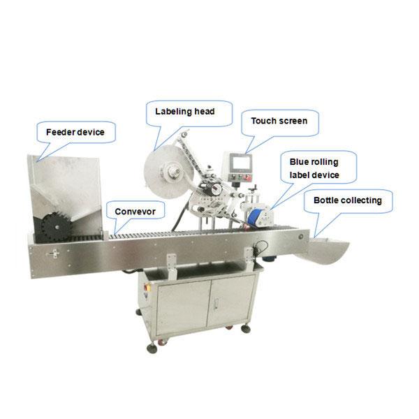 Vollautomatische Flaschenetiketten-Applikatormaschine mit CE-Zertifikat