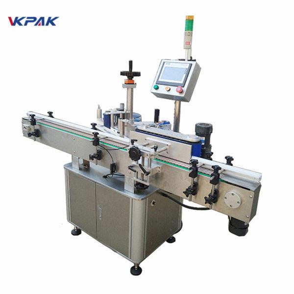 Runde Flaschenetikettiermaschine mit hoher Etikettiergeschwindigkeit für automatische Milchprodukte und Säfte