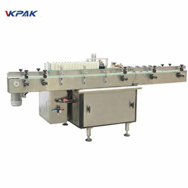 Kunststoffkosmetik Fläschchenetikettierung Doppelseitige Aufkleberetikettiermaschine