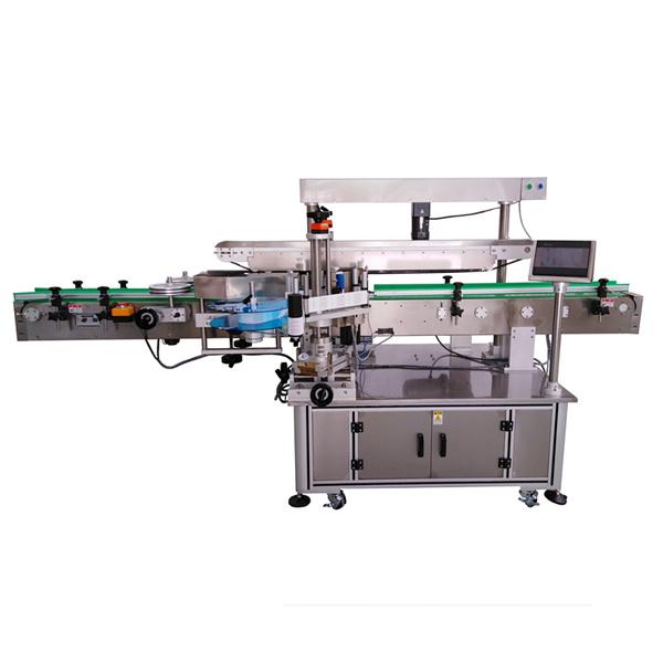 Selbstklebende Etikettiermaschine mit drei Etiketten