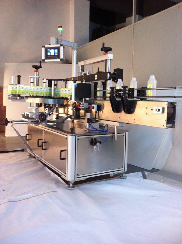 Getränke Quadratische Flaschenetikettiermaschine Doppelseitiger Aufkleber Etikettierer