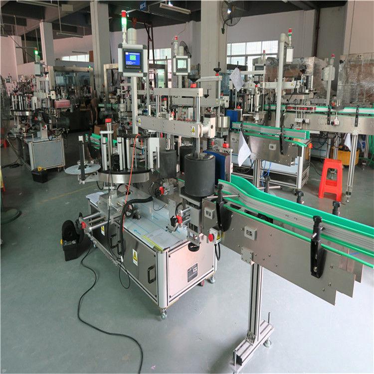 Runde Etikettiermaschine für Haustierflaschen, automatische Etikettenapplikatormaschine