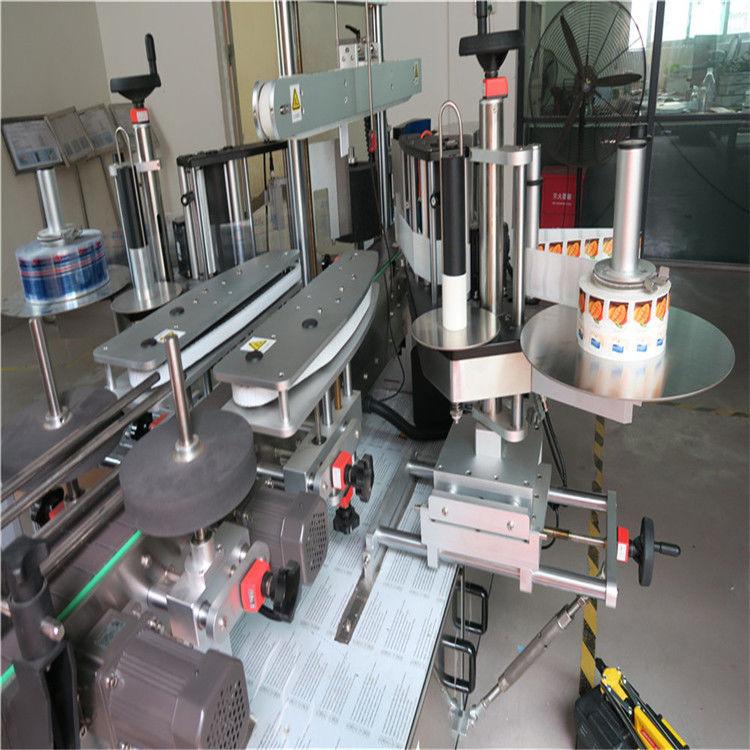 Einseitige / doppelseitige runde Flasche Aufkleber Etikett Applikator Maschine
