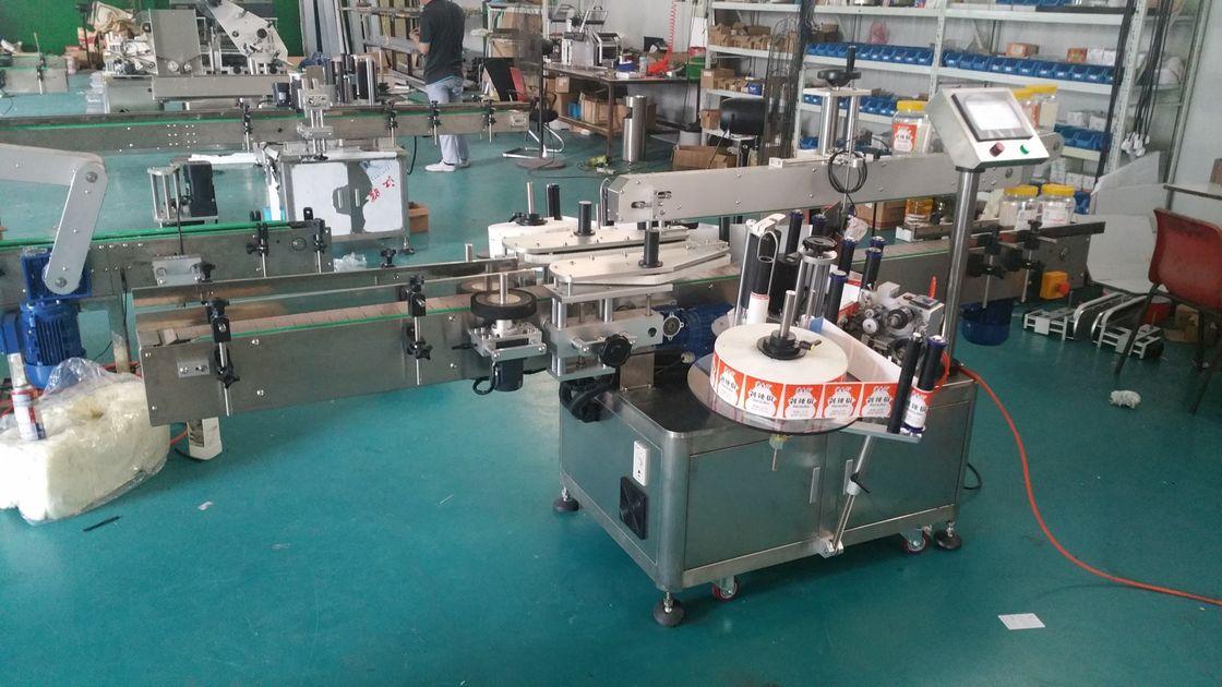 Automatischer Flaschenetikettierer Doppelseitige Aufkleber-Etikettiermaschine