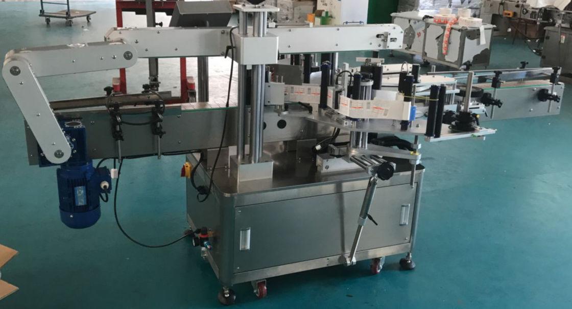 Automatische Flachflaschen-Glasflaschen-Etikettiermaschine, Aufkleber-Etikettiermaschine
