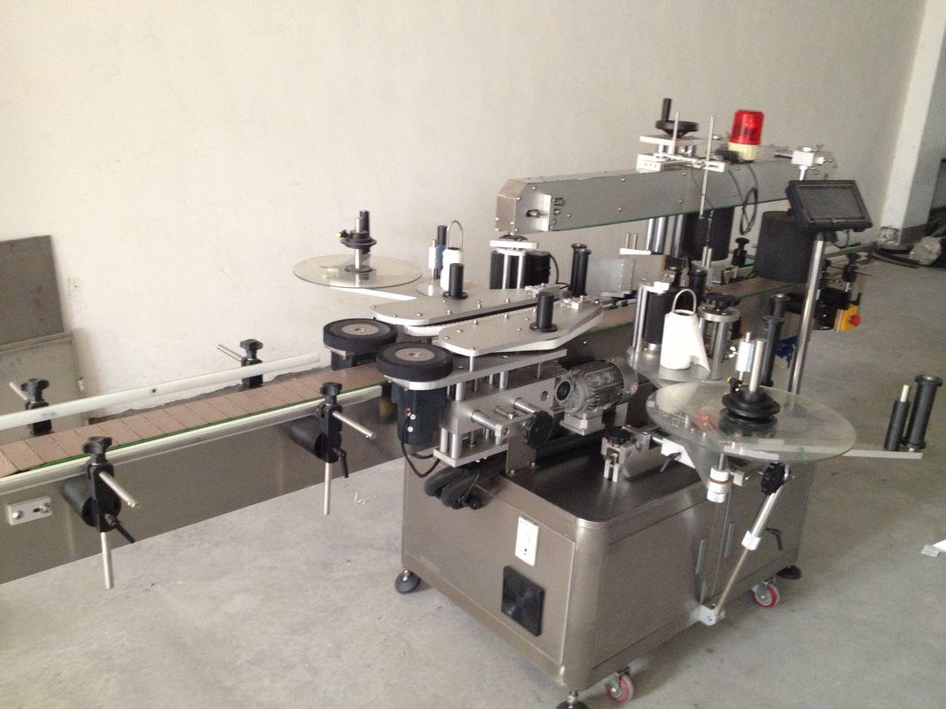 Automatische Doppelseiten-Aufkleber-Beschriftungsmaschine der Bierflasche