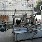 Selbstklebende zylindrische / ovale Flaschenetikettiermaschine mit SPS-Touchscreen